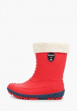 Резиновые сапоги Kuoma температурный режим от -2 до +5. Цвет: красный