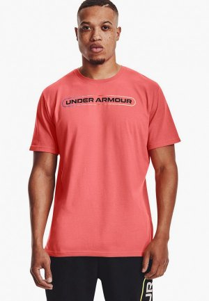 Футболка спортивная Under Armour UA LOCKERTAG SS. Цвет: красный