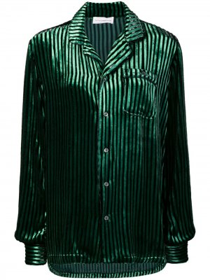 Striped single pocket shirt Faith Connexion. Цвет: зеленый