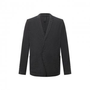 Пиджак из хлопка и льна Transit. Цвет: серый