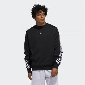 Свитшот 3-Stripes Wrap Originals adidas. Цвет: черный