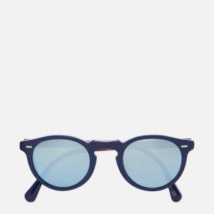 Солнцезащитные очки Gregory Peck 1962 Oliver Peoples. Цвет: синий