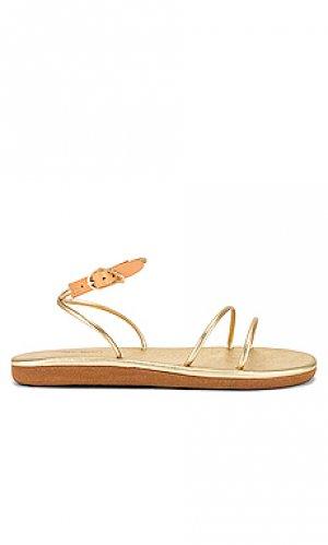 Сандалии angel Ancient Greek Sandals. Цвет: металлический золотой