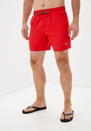 Шорты для плавания PUMA SWIM MEN MEDIUM LENGTH SHORTS 1P. Цвет: красный