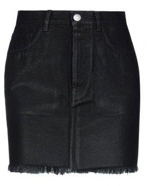 Джинсовая юбка HAIKURE. Цвет: черный