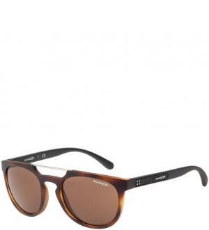 Солнцезащитные очки в пластиковой оправе Woodward Arnette. Цвет: черный