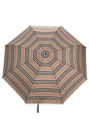 Зонт в полоску Icon Stripe Burberry. Цвет: нейтральные цвета