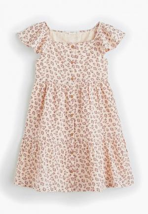 Платье Mango Kids - MARGARET. Цвет: коралловый