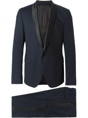 Классический костюм-двойка MSGM. Цвет: синий