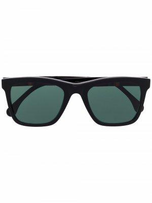 Солнцезащитные очки Durant в квадратной оправе PAUL SMITH. Цвет: черный