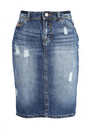 Юбка джинсовая Alcott. Цвет: синий