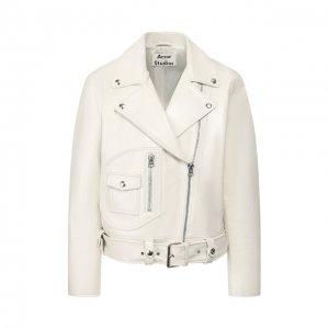 Кожаная куртка Acne Studios. Цвет: белый