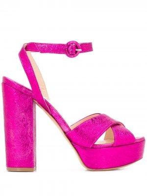Босоножки Cathy на платформе P.A.R.O.S.H.. Цвет: розовый