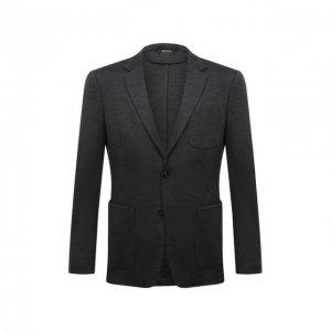 Шерстяной пиджак Z Zegna. Цвет: серый