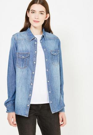 Рубашка джинсовая Bestia BE032EWUWT37. Цвет: синий