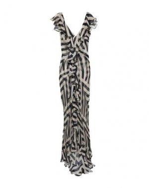 Длинное платье DE LA VALI. Цвет: голубиный серый