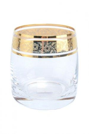 Набор стаканов для виски 6 шт. Bohemia. Цвет: прозрачный, золотой