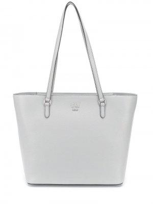 Большая сумка-тоут Whitney DKNY. Цвет: серый