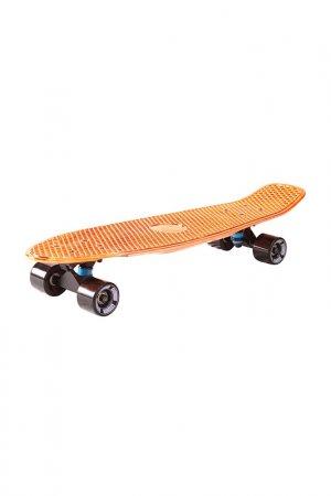 Скейтборд с сумкой Y-SCOO. Цвет: оранжевый