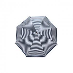 Складной зонт с принтом Doppler. Цвет: синий