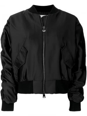 Куртка-бомбер Logomania с украшением из поделочных камней Chiara Ferragni. Цвет: чёрный