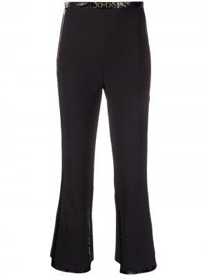 Укороченные расклешенные брюки Elisabetta Franchi. Цвет: черный