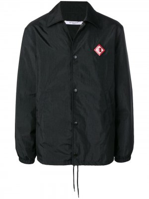 Пальто с заплаткой логотипом Givenchy. Цвет: черный