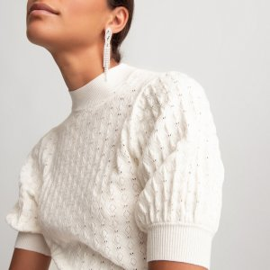Пуловер La Redoute. Цвет: белый