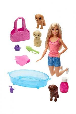 Барби Купание щенков Barbie. Цвет: бежевый, розовый, голубой