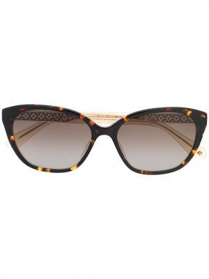 Солнцезащитные очки в оправе кошачий глаз Kate Spade. Цвет: коричневый