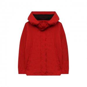 Ветровка с капюшоном N21. Цвет: красный