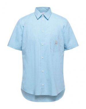 Pубашка BAND OF OUTSIDERS. Цвет: небесно-голубой