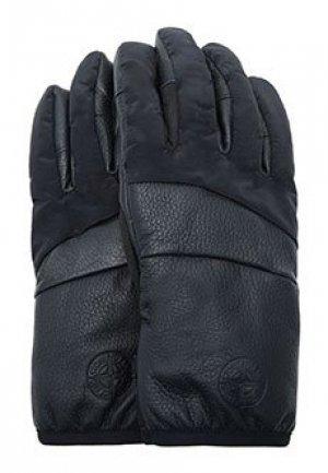 Перчатки STONE ISLAND. Цвет: черный
