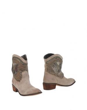 Полусапоги и высокие ботинки AMUST. Цвет: голубиный серый