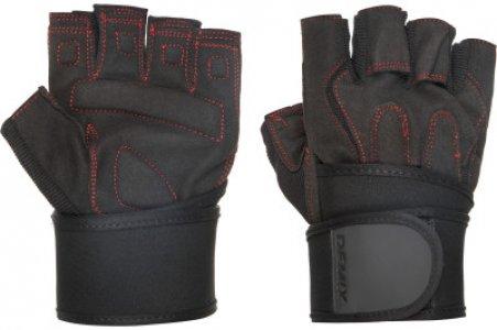 Перчатки атлетические Fitness Gloves With Wrist Strap, размер M Demix. Цвет: черный