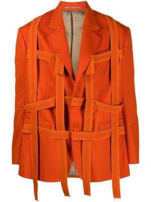 Пиджак оверсайз Walter Van Beirendonck Pre-Owned. Цвет: оранжевый