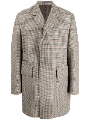 Пальто с потайной застежкой Wooyoungmi. Цвет: разноцветный