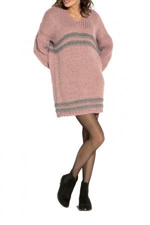 Свитер FOBYA. Цвет: pink, grey