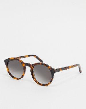 Круглые солнцезащитные очки Monokel Barstow-Коричневый Eyewear