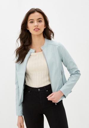 Куртка кожаная Baon. Цвет: голубой