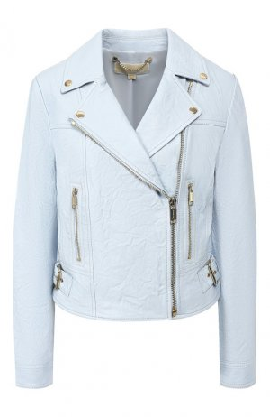 Кожаная куртка MICHAEL Kors. Цвет: голубой