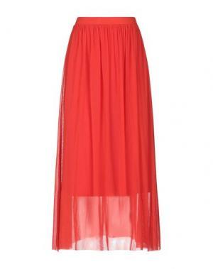 Длинная юбка FUZZI. Цвет: красный