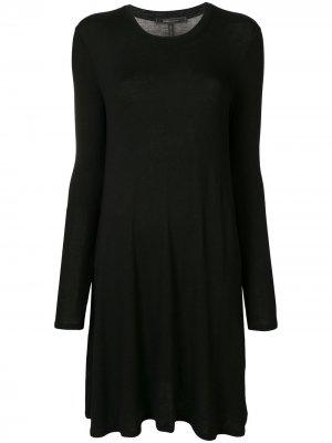 Платье миди тонкой вязки BCBG Max Azria. Цвет: черный