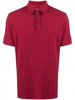 Рубашка поло из ткани пике Ballantyne. Цвет: красный