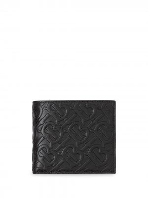 Бумажник International с монограммой Burberry. Цвет: черный
