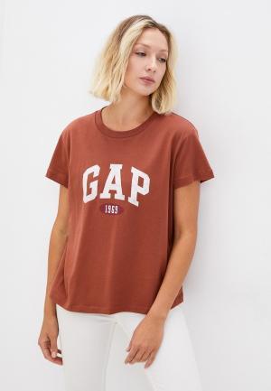 Футболка Gap. Цвет: коричневый