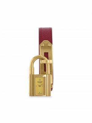 Наручные часы Kelly-Cadenas pre-owned 20 мм 1990-х годов Hermès. Цвет: золотистый