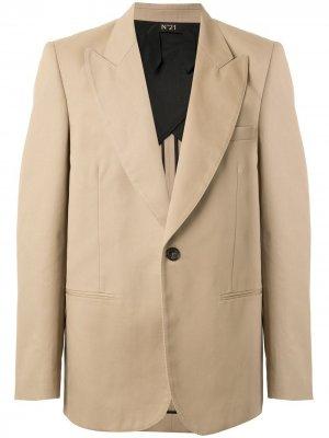 Однобортный пиджак Nº21. Цвет: нейтральные цвета