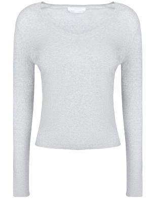Шерстяной пуловер HUGO BOSS. Цвет: серый