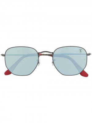 Солнцезащитные очки в круглой оправе Ray-Ban. Цвет: серый